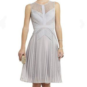 BCBG MAXAZRIA Raya Sleeveless Pleated Lace Dress